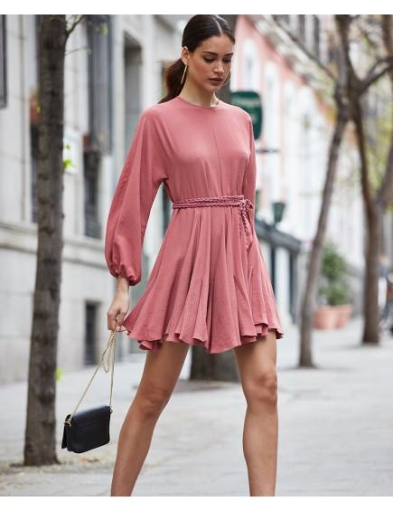 Vestido Quillas Teja