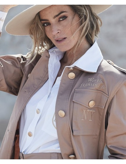Sand Military Jacket