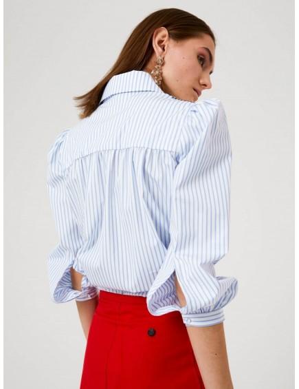 Camisa con Bordados y Flecos