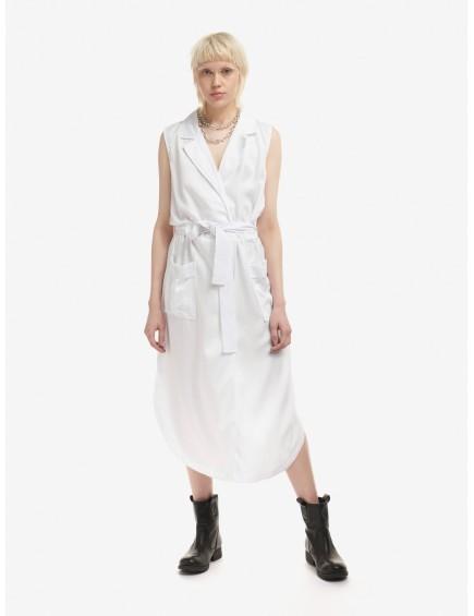 Vestido Sin Mangas Blanco