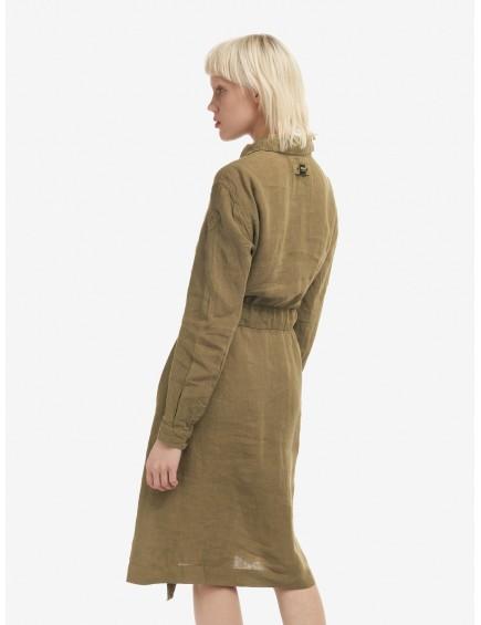 Vestido de Lino Khaki