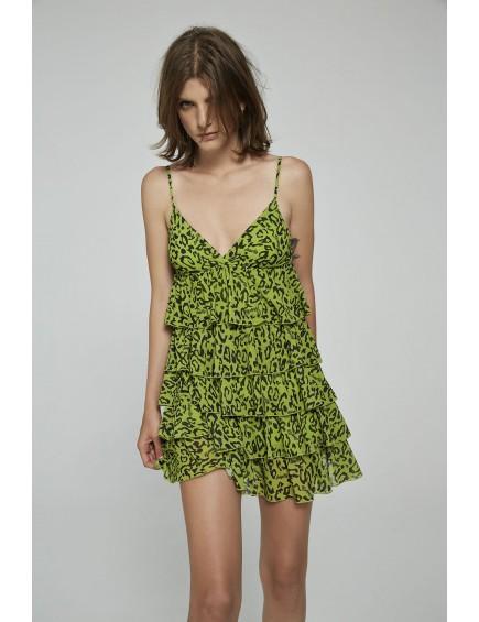 Vestido Animal Print Verde