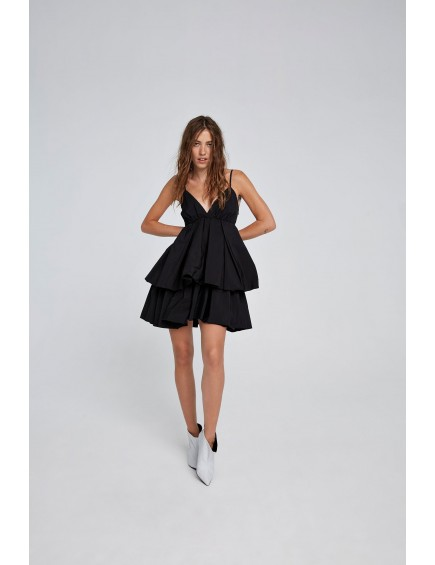 Vestido Corto Tirantes Negro