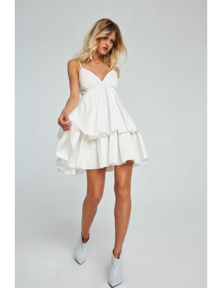 Vestido Corto Tirantes Blanco
