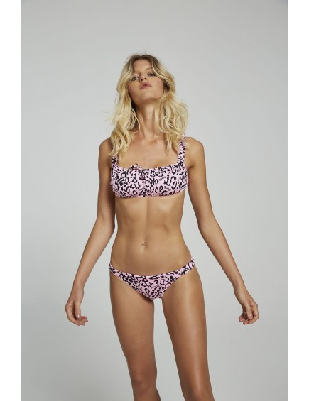 Bikini Animal Print Rosa