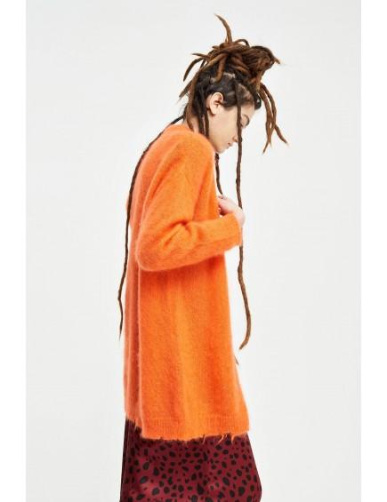 Cárdigan Mohair Naranja