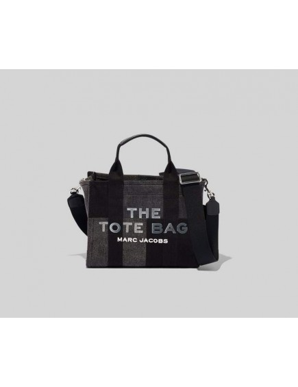 The Denim Mini Tote Bag Black